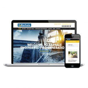 Barhale website design