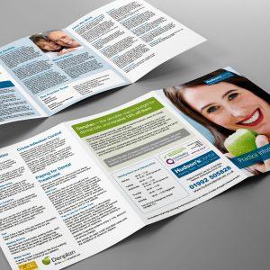 Denplan tri-fold leaflet