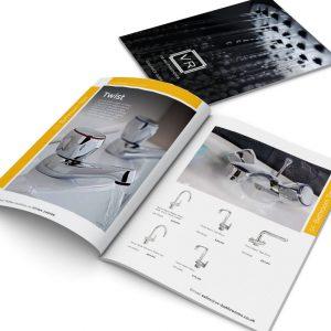 VR bathrooms brochure design