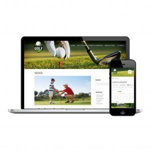 Junior Golf website design