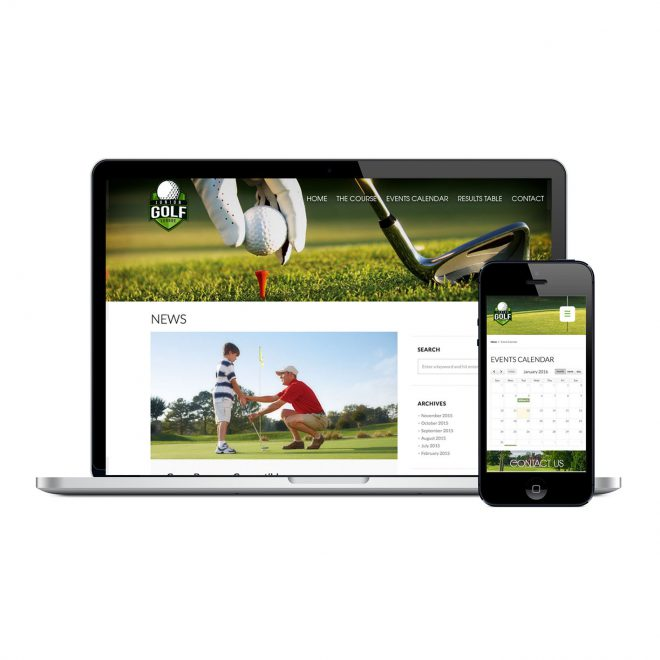 Golf-website-design