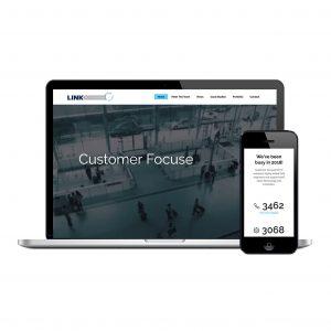 LinkCCTV website design