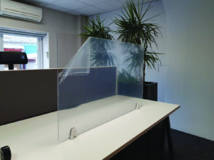 desk surface mounted covid screen