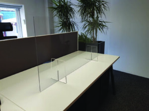 freestanding covid screen without cut out